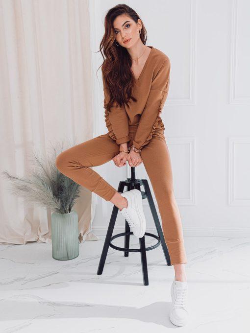 Tamsiai rusvas moteriškas sportinis kostiumas internetu pigiau ZLR004 17531-2
