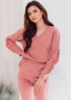 Rožinis moteriškas sportinis kostiumas internetu pigiau ZLR004 17532-1