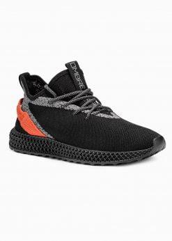 Juodi sneakers batai vyrams paaukštinti internetu pigiau T371 17637-1
