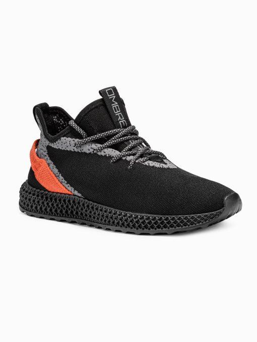 Juodi sneakersai vyrams paaukštinti internetu pigiau T371 17637-1