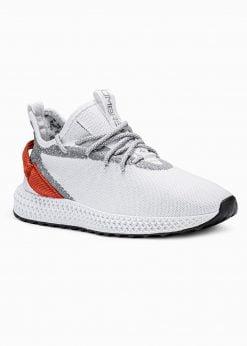 Balti sneakers batai vyrams paaukštinti internetu pigiau T371 17638-1