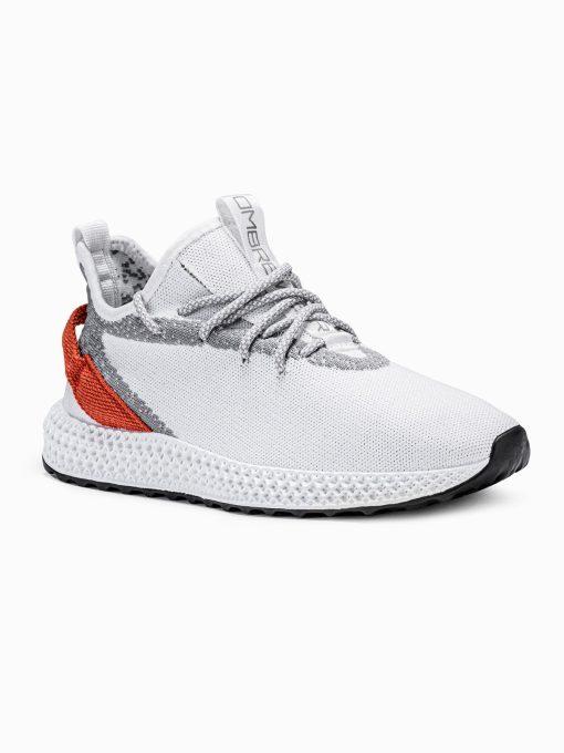 Balti sneakersai vyrams paaukštinti internetu pigiau T371 17638-1