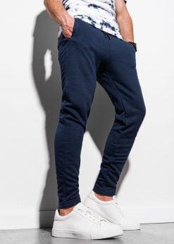 Tamsiai mėlynos sportinės kelnės vyrams internetu pigiau P1004 17646-1