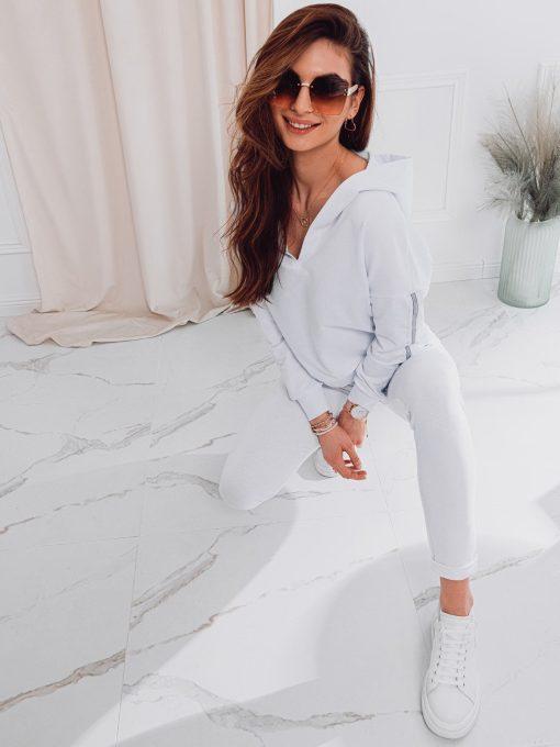 Baltas moteriskas sportinis kostiumas internetu pigiau ZLR001 17659-3