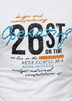 Balti vyriski marskineliai su uzrasais internetu pigiau S1422 17877-2