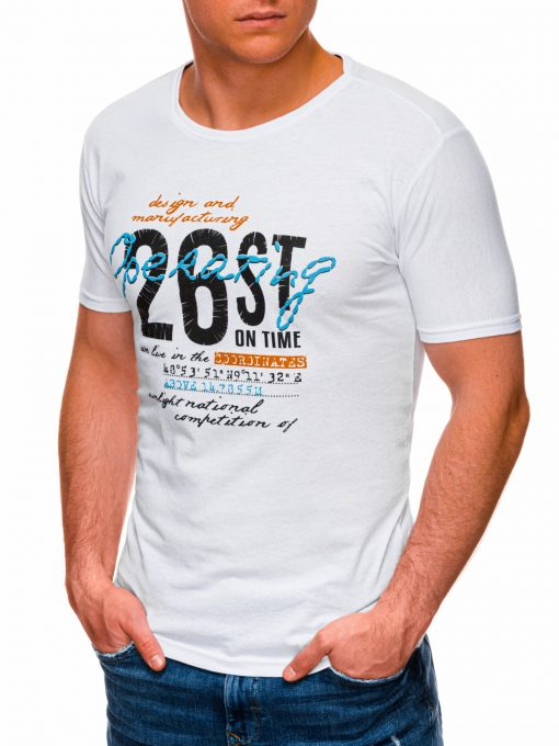Balti vyriski marskineliai su uzrasu internetu pigiau S1422 17877-3