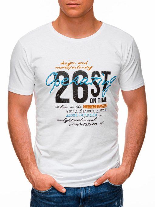 Rusvi vyriški marškinėliai su užrašu internetu pigiau S1422 17878-1