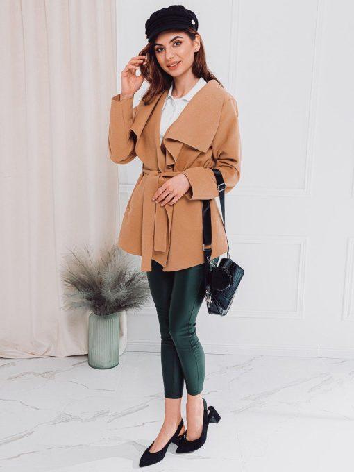 Rudas moteriškas paltas internetu pigiau CLR010 17893-1