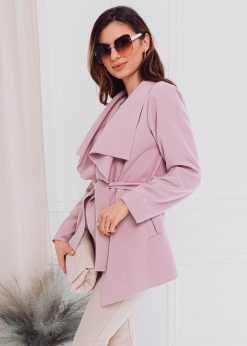 Rožinis moteriškas paltas internetu pigiau CLR010 17897-2