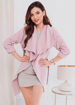 Rozinis moteriskas paltas internetu pigiau CLR011 17901-2