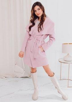 Rožinis moteriškas paltas internetu pigiau CLR011 17901-4