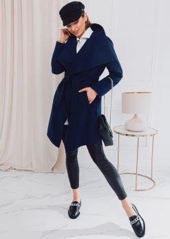 Tamsiai mėlynas moteriškas paltas internetu pigiau CLR011 17902-3