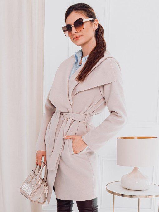 Rusvas moteriškas paltas internetu pigiau CLR011 17905-1