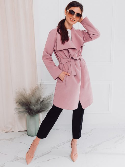 Tamsiai rožinis moteriškas paltas internetu pigiau CLR011 17906-1