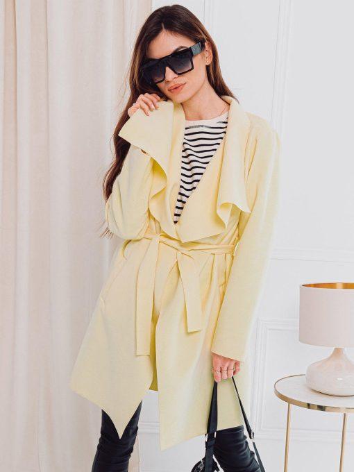 Geltonas moteriškas paltas internetu pigiau CLR011 17907-1