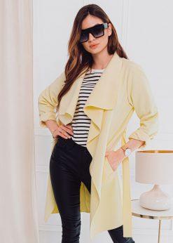 Geltonas moteriskas paltas pavasariui internetu pigiau CLR011 17907-4
