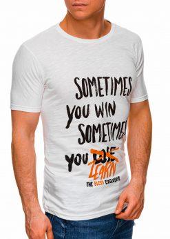 Rusvi vyriški marškinėliai su užrašu pigiau internetu S1425 17920-1
