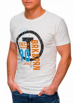 Rusvi vyriški marškinėliai su užrašu internetu pigiau S1426 17989-3