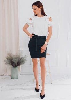 Juodas moteriškas sijonas internetu pigiau GLR003 18007-1