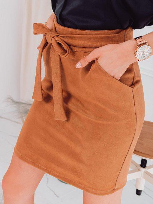 Rudas moteriskas sijonas internetu pigiau GLR003 18008-4
