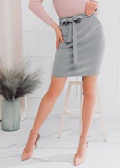 Pilkas moteriškas sijonas internetu pigiau GLR003 18009-1