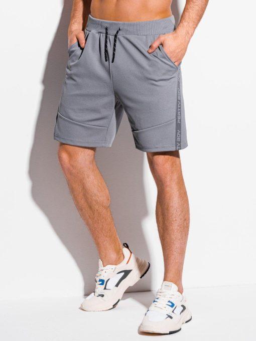 Pilki sportiniai šortai vyrams internetu pigiau W316 18024-3