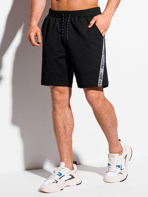 Juodi sportiniai šortai vyrams internetu pigiau W316 18025-3