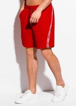Raudoni sportiniai šortai vyrams internetu pigiau W316 18026-2