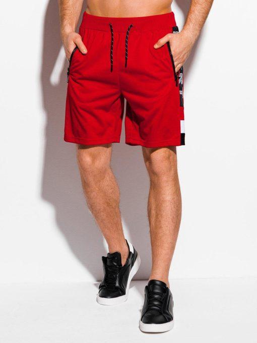 Raudoni sportiniai šortai vyrams pigiau internetu W314 18029-2