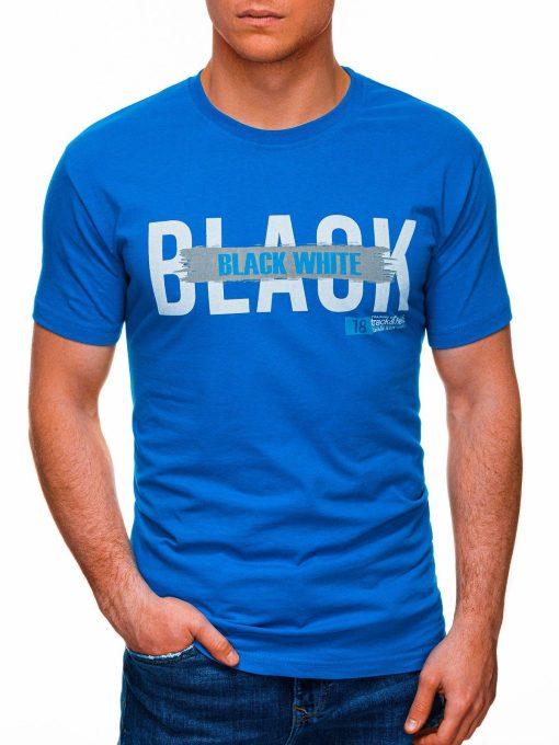 Šviesiai mėlyni vyriški marškinėliai su užrašu pigiau internetu S1430 18056-1