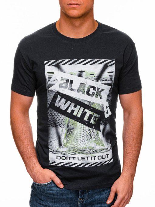 Tamsiai pilki vyriški marškinėliai su užrašu pigiau internetu S1427 18071-1