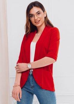 Raudonas moteriškas švarkas internetu pigiau MLR001 18197-3