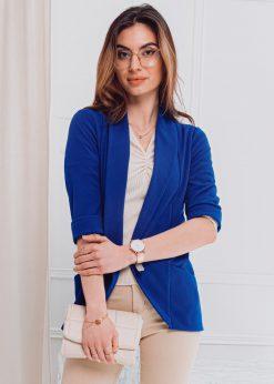 Mėlynas moteriškas švarkas internetu pigiau MLR001 18201-2