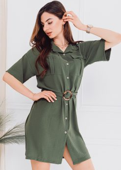 Chaki moteriška suknelė internetu pigiau DLR006 18237-1