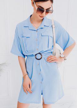 Mėlyna moteriška suknelė internetu pigiau DLR006 18238-2