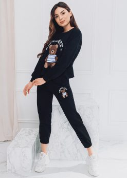 Juodas moteriškas sportinis kostiumas internetu pigiau ZLR007 18557-6