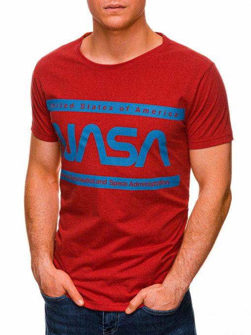 Raudoni vyriski marskineliai su uzrasu nasa internetu pigiau S1437 18713-3