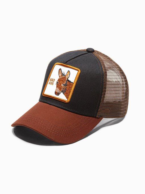 Ruda vyriška kepurė su snapeliu internetu pigiau H092 18776-1