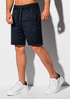 Tamsiai mėlyni sportiniai šortai vyrams internetu pigiau W319 18790-1