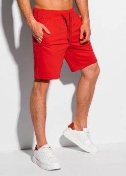 Raudoni sportiniai šortai vyrams internetu pigiau W319 18793-1