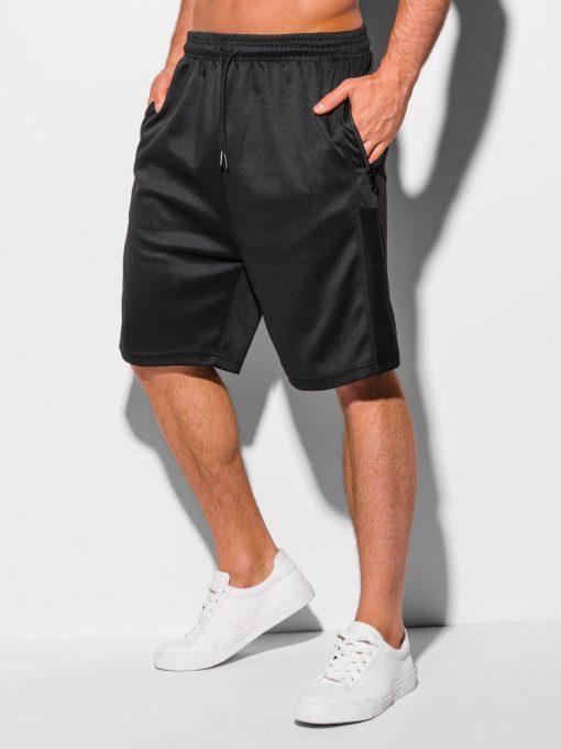 Juodi sportiniai šortai vyrams internetu pigiau W325 18810-1