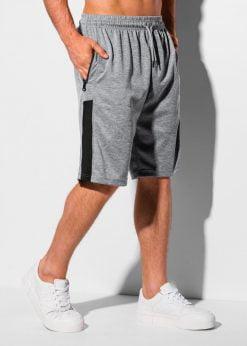 Pilki sportiniai šortai vyrams internetu pigiau W325 18811-2