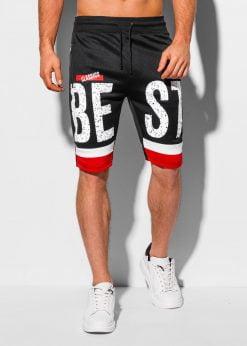 Juodi sportiniai šortai vyrams internetu pigiau W323 18819-1