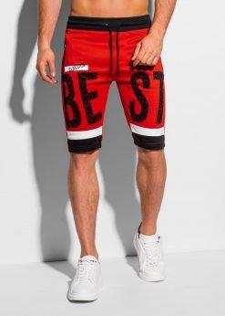 Raudoni sportiniai šortai vyrams internetu pigiau W323 18820-1