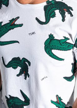 Balti vyriski marskineliai su krokodilais internetu pigiau S1417 18955-2