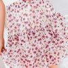 Baltas moteriškas sijonas su raukinukais internetu pigiau GLR005 18968-1