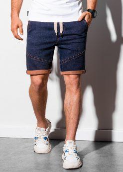 Violetiniai džinsiniai šortai vyrams internetu pigiau W219 18976-1