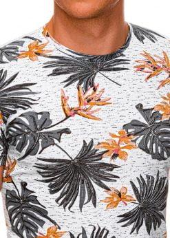 Gėlėti vyriški marškinėliai internetu pigiau S1283 15002-3