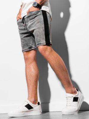 Pilki džinsiniai šortai vyrams internetu pigiau W221 18983-1