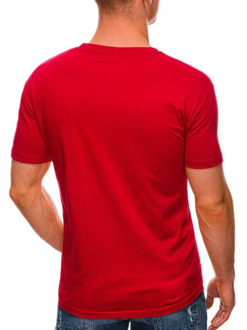 Raudoni marskineliai su uzrasu internetu pigiau S1432 19082-4